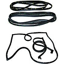 Door Seal Kit - Set of 2 Front, Driver and Passenger Side, Rear Cargo