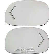 Driver and Passenger Side Mirror Glass, With Turn Signal Light