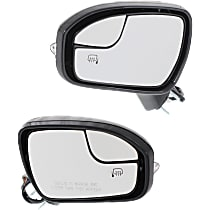Mirror - Driver and Passenger Side (Pair), Power, Heated, Paintable, With Turn Signal, Memory and Puddle Lamp