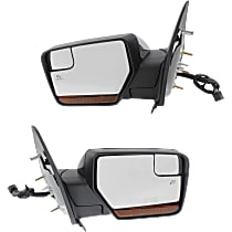 Kool Vue Power Mirror, Driver and Passenger Side, Power Folding, w/ Corner Blind Spot Glass, HTD, w/ Memory, Signal, and Puddle Light, Paintable