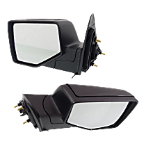 Mirror - Driver and Passenger Side (Pair), With 1 Chrome and 1 Paintable Cap