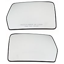 Driver and Passenger Side Heated Mirror Glass, Without Turn Signal Light