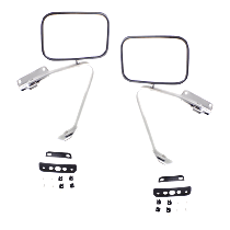 Manual Mirror, Driver and Passenger Side, Manual Folding, Chrome