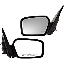 Kool Vue Power Mirror, Driver and Passenger Side, Non-Folding, Heated, w/o Puddle Light, 2 Caps Paintable & Textured Black