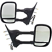 Mirror - Driver and Passenger Side (Pair), Towing, Power, Textured Black