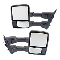 Kool Vue Manual Mirror, Driver and Passenger Side, Manual Folding, Non-Heated, w/o Memory & Signal, Textured Black