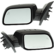 Mirror - Driver and Passenger Side (Pair), Power, Heated, Folding, Paintable, With Turn Signal, With Blind Spot Function & Puddle Lamp