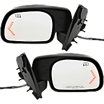 Mirror - Driver and Passenger Side Pair, Power, Heated, Folding, Textured Black, Turn Signal, Models Built From February 18, 2001