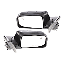 Mirror - Driver and Passenger Side (Pair), Power, Paintable, With Memory and Puddle Lamp