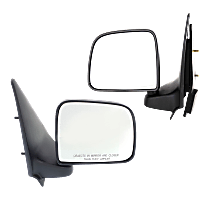 Manual Mirror, Driver and Passenger Side, Manual Folding, Non-Heated, Textured Black