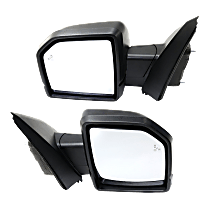 Mirror - Driver and Passenger Side (Pair), Power, Heated, Power Folding, Textured Black, w/ Turn Signal, Memory, Blind Spot Function