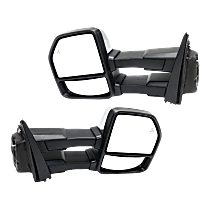 Mirror - Driver and Passenger Side (Pair), Towing, Power, Heated, Power Folding, Chrome, w/ Turn Signal, Memory & Blind Spot Function