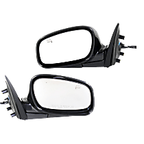 Power Mirror, Driver and Passenger Side, Manual Folding, Heated, w/ Memory, Paintable