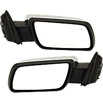 Mirror - Driver and Passenger Side (Pair), Power, Heated, Chrome, With Memory and Puddle Lamp, Black Base