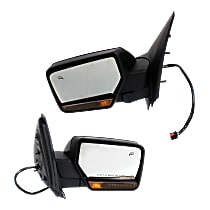 Kool Vue Power Mirror, Driver and Passenger Side, Power Folding, w/o Corner Blind Spot Glass, Heated, w/ Memory, Signal, and Puddle Light, Paintable