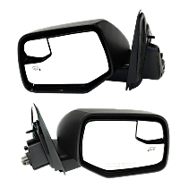 Mirror - Driver and Passenger Side (Pair), Power, Heated, Textured Black, With Blind Spot Glass