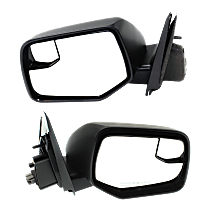 Mirror - Driver and Passenger Side (Pair), Power, Textured Black, With Blind Spot Function