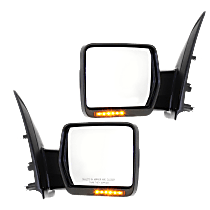 Mirror - Driver and Passenger Side (Pair), Power, Heated, Power Folding, Chrome, With Turn Signal, Memory & Puddle Lamp, w/ Reflector