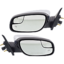 Mirror - Driver and Passenger Side (Pair), Power, Heated, Chrome, With Memory and Puddle Lamp