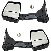 Kool Vue Manual Mirror, Driver and Passenger Side, Manual Folding, Towing, Textured Black