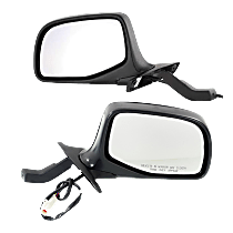 Mirror - Driver and Passenger Side (Pair), Power, Chrome, Paddle Style
