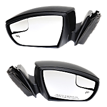 Mirror - Driver and Passenger Side (Pair), Power, Heated, Paintable, With Turn Signal and Puddle Lamp