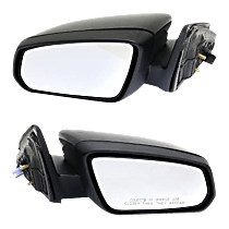 Mirror - Driver and Passenger Side (Pair), Power, Folding, Paintable