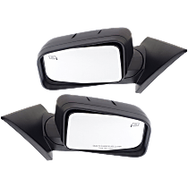 Mirror - Driver and Passenger Side (Pair), Power, Heated, Textured Black, With Memory