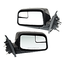 Mirror - Driver and Passenger Side (Pair), Power, Paintable, With Blind Spot Glass