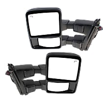 Driver and Passenger Side Towing Heated Mirror - Power Glass, Power Folding, In-housing Signal Light, Without memory, Textured Black