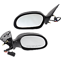 Mirror - Driver and Passenger Side (Pair), Power, Textured Black, With Puddle Lamp, With One Textured Black Cap