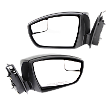 Mirror - Driver and Passenger Side (Pair), Power, Paintable, With Turn Signal and Blind Spot Glass