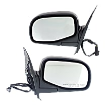 Kool Vue Power Mirror, Driver and Passenger Side, Manual Folding, Non-Heated, w/o Puddle Light, Textured Black
