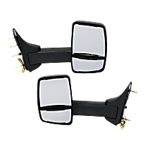 Mirror - Driver and Passenger Side (Pair), Towing, Textured Black, With Turn Signal