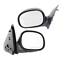 Manual Mirror, Driver and Passenger Side, To 2-11-02, Manual Folding, Contour Style, Chrome