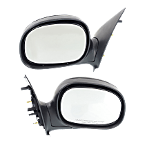 Manual Mirror, Driver and Passenger Side, To 2-11-02, Manual Folding, Contour Style, Paintable