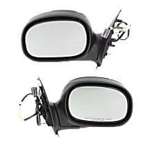 Kool Vue Power Mirror, Driver and Passenger Side, Regular Cab/SuperCab, Manual Folding, Non-Heated, w/o Signal, Chrome
