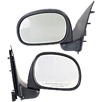 Manual Mirror, Driver and Passenger Side, To 2-11-02, Manual Folding, Paddle Style, Textured Black