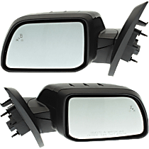 Mirror - Driver and Passenger Side Pair, Power, Heated, Folding, Paintable, w/ Turn Signal, Memory, Blind Spot Function, & Puddle Lamp
