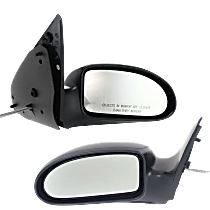 Mirror - Driver and Passenger Side (Pair), Manual Remote, Textured Black