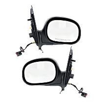 Power Mirror, Driver and Passenger Side, Manual Folding, Non-Heated, w/o Memory and Signal, Chrome
