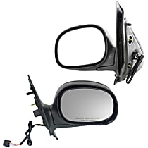 Power Mirror, Driver and Passenger Side, Manual Folding, Non-Heated, w/o Memory and Signal, Paintable