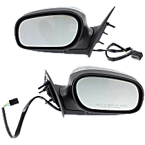 Power Mirror, Driver and Passenger Side, Manual Folding, Non-Heated, Chrome