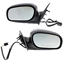 Kool Vue Power Mirror, Driver and Passenger Side, Manual Folding, Non-Heated, Chrome