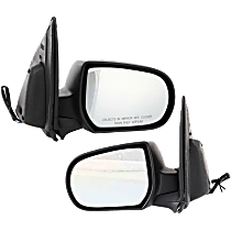 Mirror - Driver and Passenger Side (Pair), Power, Textured Black, Later 2nd Design