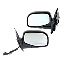 Mirror - Driver and Passenger Side (Pair), Power, Textured Black, With Puddle Lamp