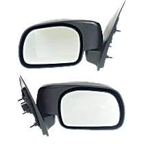 Mirror - Driver and Passenger Side (Pair), Textured Black, Standard Type Paddle Style