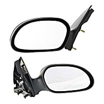 Kool Vue Power Mirror, Driver and Passenger Side, Non-Folding, Non-Heated, 4 Caps Paintable & Textured Black