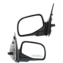 Mirror - Driver and Passenger Side (Pair), Power, Folding, Textured Black, For Stripped Chassis