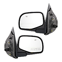 Mirror - Driver and Passenger Side (Pair), Power, Heated, Textured Black, With Puddle Lamp